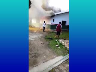 Incêndio atinge escola