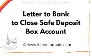 sample letter to close safe deposit box