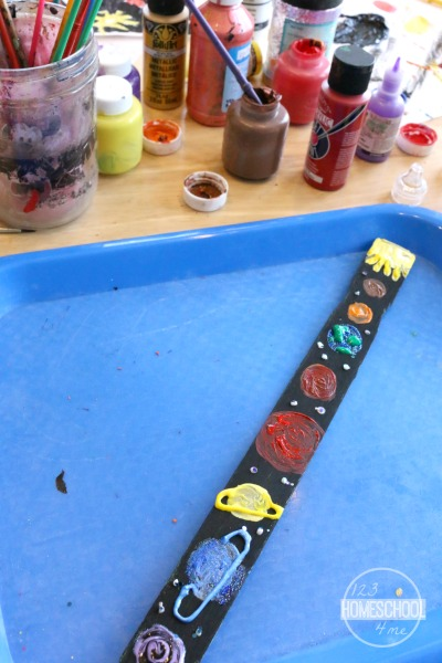 Paint Stick Solar System Project