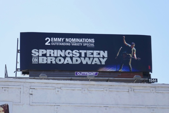 Springsteen on Broadway 2019 Emmy nominee billboard