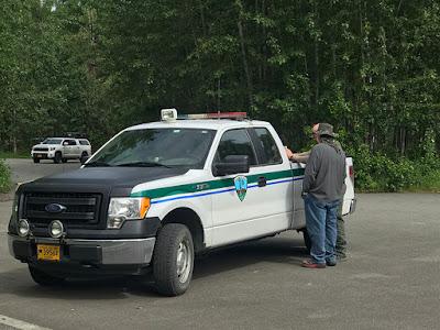 Paul Talks to the Friendly Park Ranger
