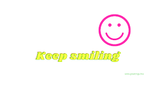 Keep smiling Desktop Wallpaper images with white color background