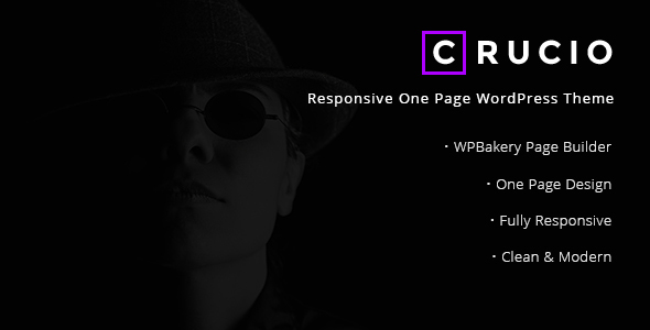 Crucio Responsive One Page WordPress Themes