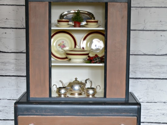 Antique Waterfall Hutch Makeover