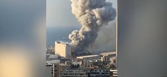 Video Ledakan Besar di Beirut, Para Pemimpin Dunia Berduka: Kami Berdiri Bersama Lebanon