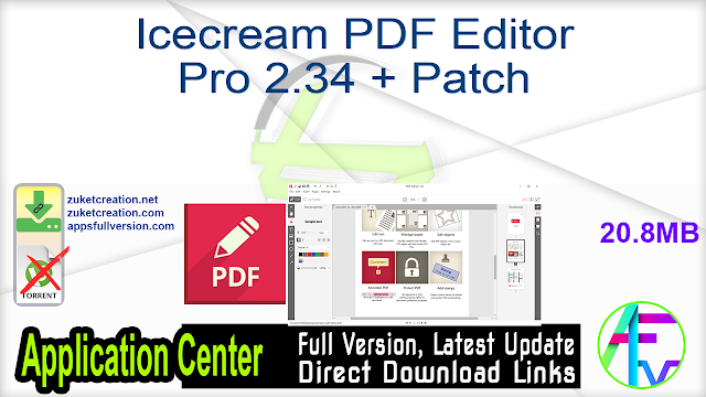 Icecream PDF Editor Pro 2.34 + Patch