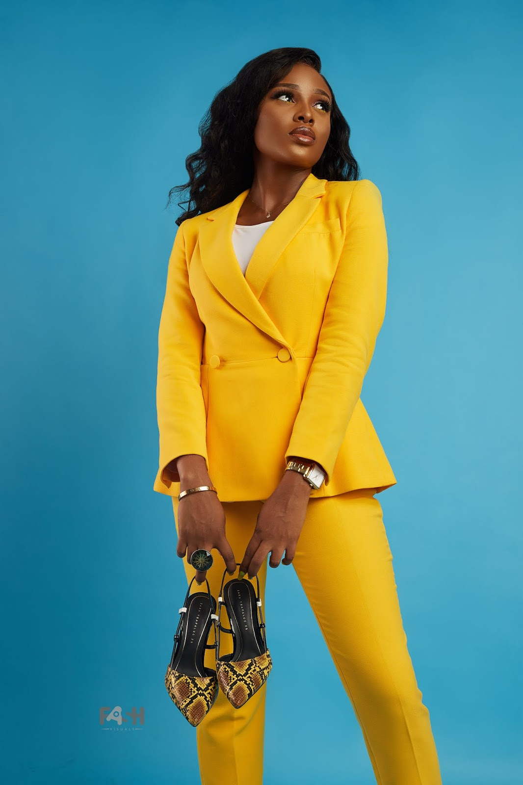 Zara Yellow Suit for women