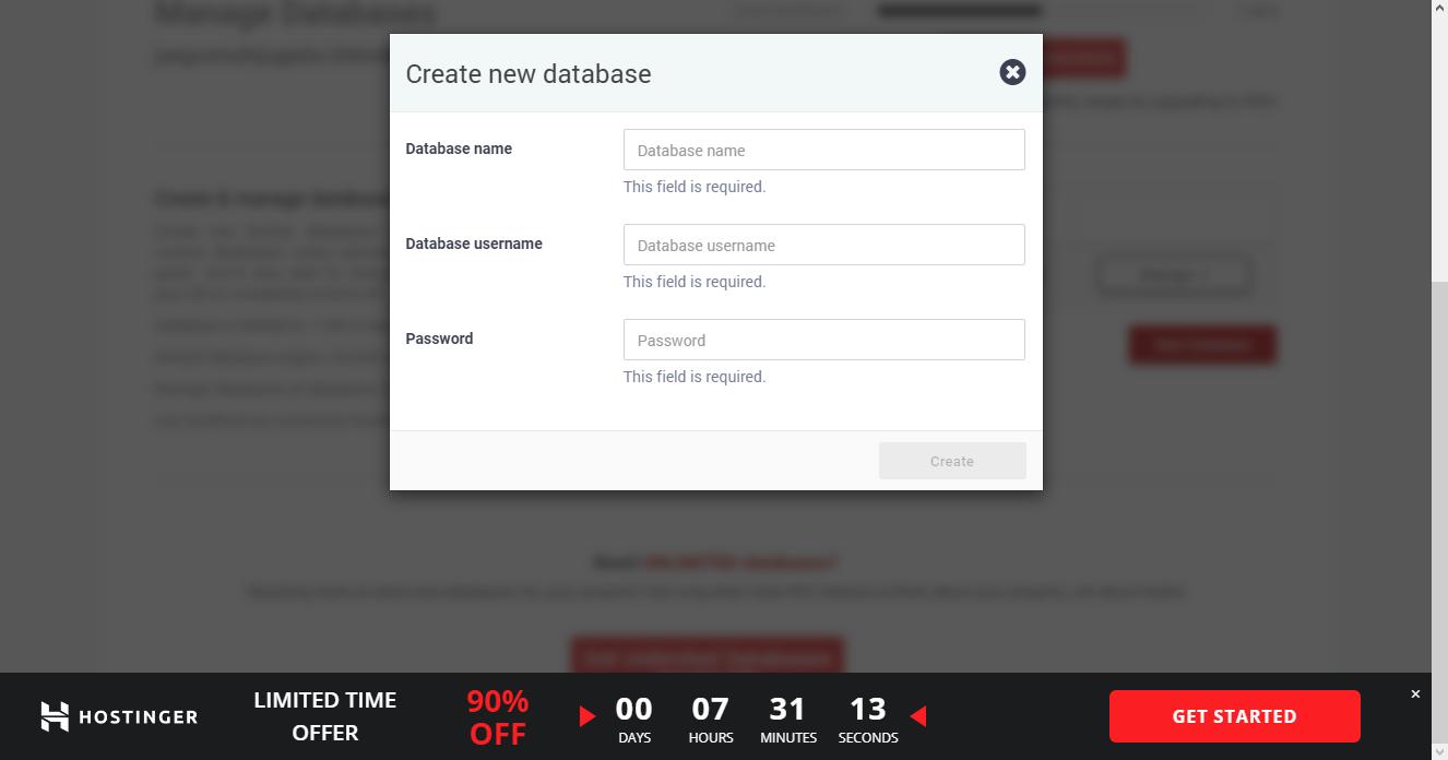 Creando Base de Datos en 000Webhost