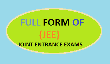 full form of jee