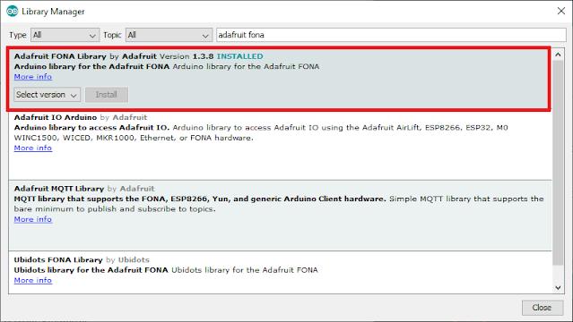 SMS control Arduino SIM800l