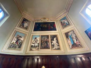 The skeleton paintings of Santa Grata.