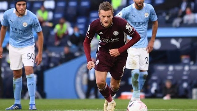 Vardy Hattrick, Manchester City Tumbang 5-2 Vs Leicester City