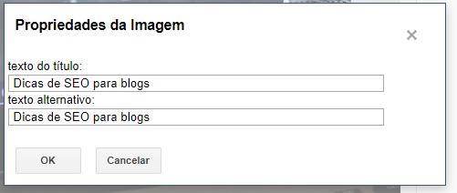 SEO para blogs - seo para imagens blogger