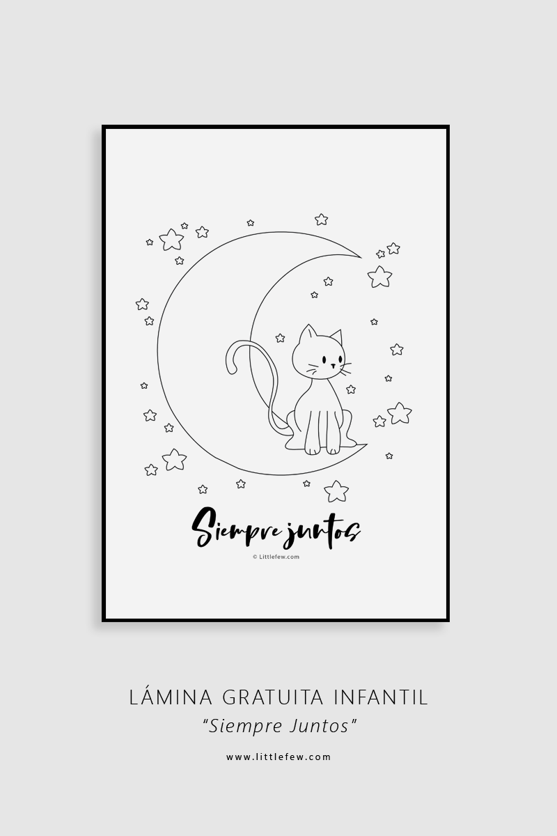 Free download print for kids 'Always together' / Lámina infantil gratuita para imprimir 'Siempre juntos'