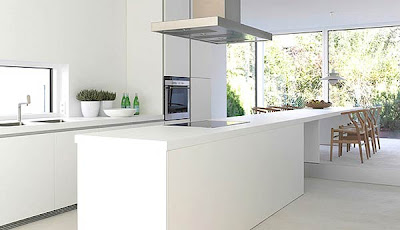 White Modern  Kitchen interior Design