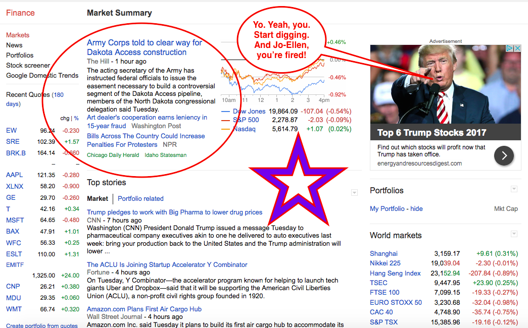 Top Story Over At Google Finance January 31 2017