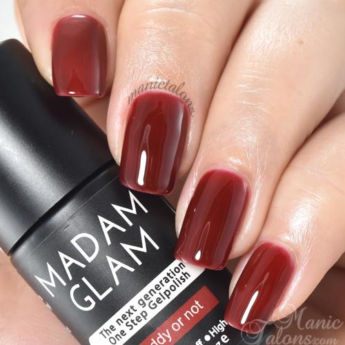 Madam Glam Gel Polish Reddy or Not Swatch