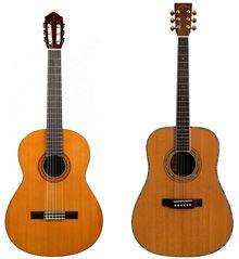 Diferencias entre Guitarra Clásica y Acústica