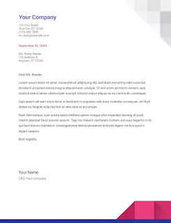Geometric Google Docs Business Letter Template