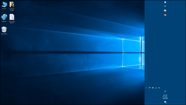 شريط مهام أوسع في Windows 10