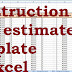 construction cost estimate template in excel