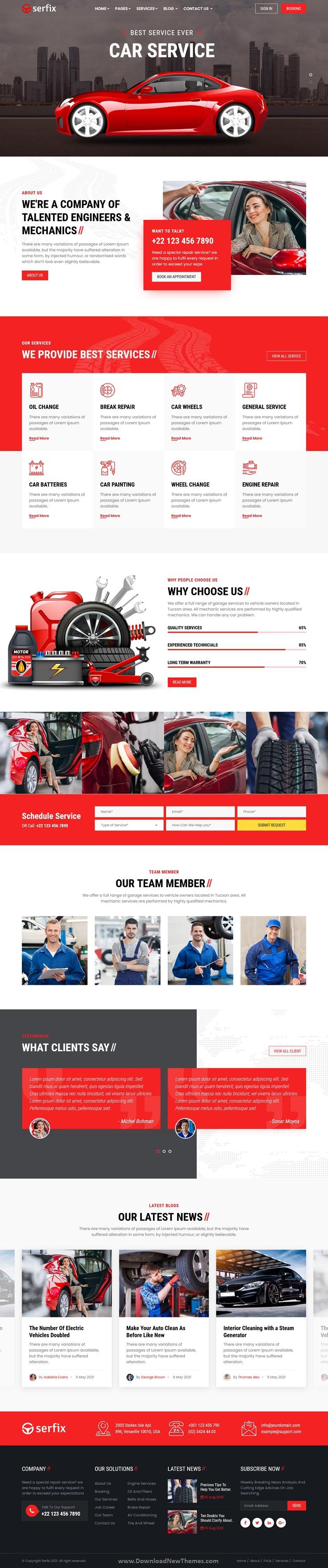 Car Service and automotive website Template