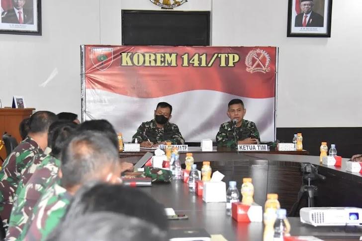 Danrem 141/Toddopuli, Sambut Tim Current Audit Itdam XIV/Hasanuddin