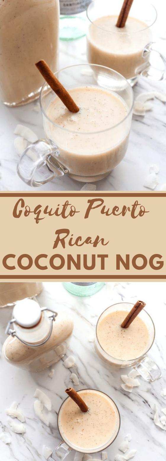 Puerto Rican Coconut Nog #drink #coconut #healthydrink #easy #recipes
