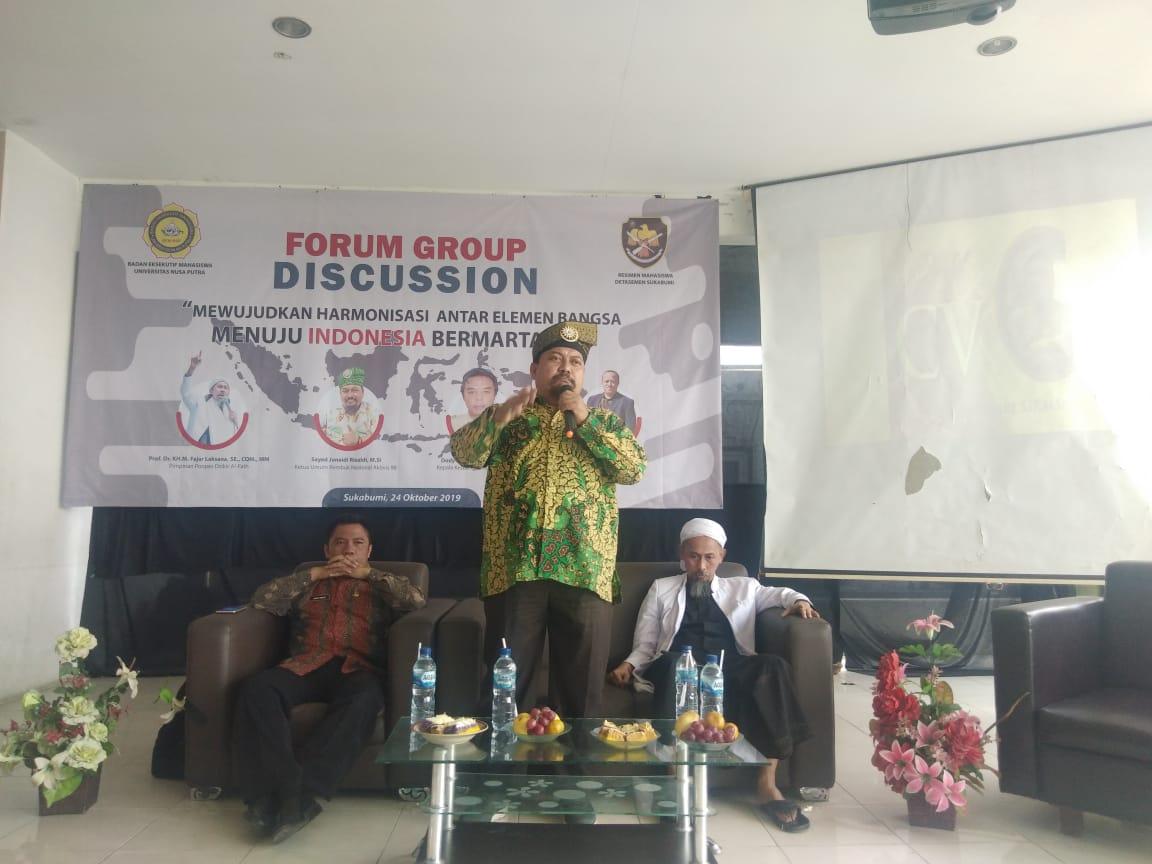 Ketum RNA 98, Sayed Junaidi Rizaldi Jadi Pembicara Pada FGD BEM Nusa Putra Dan Menwa Detasemen Sukabumi