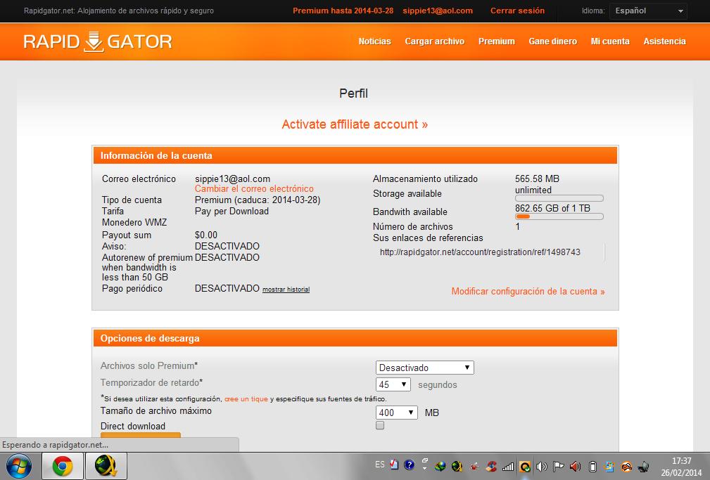 Rapidgator. Net premium account hack | rapid gator premium account.