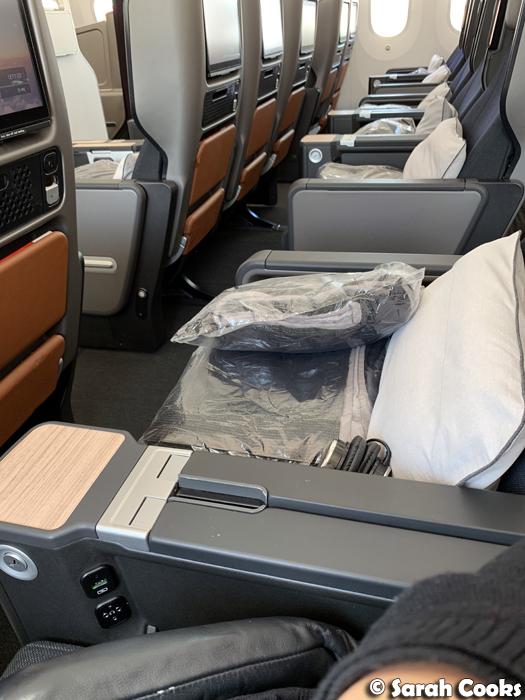 Qantas Dreamliner 787 Premium Economy Cabin