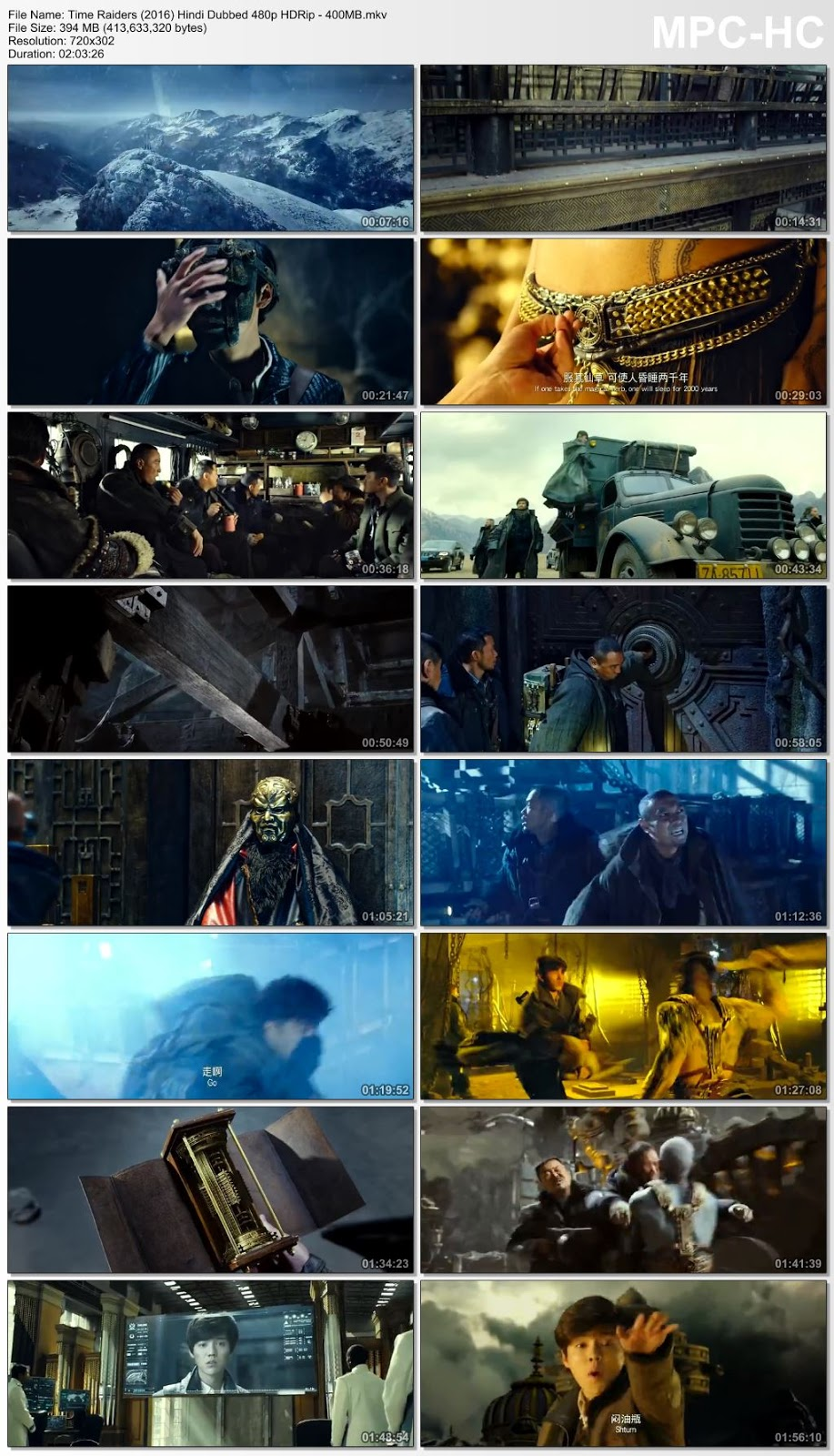 Time Raiders (2016) Hindi Dubbed 480p HDRip –  400MB Desirehub