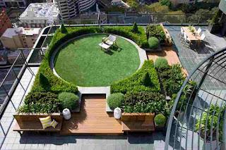 Taman atap (roof garden)