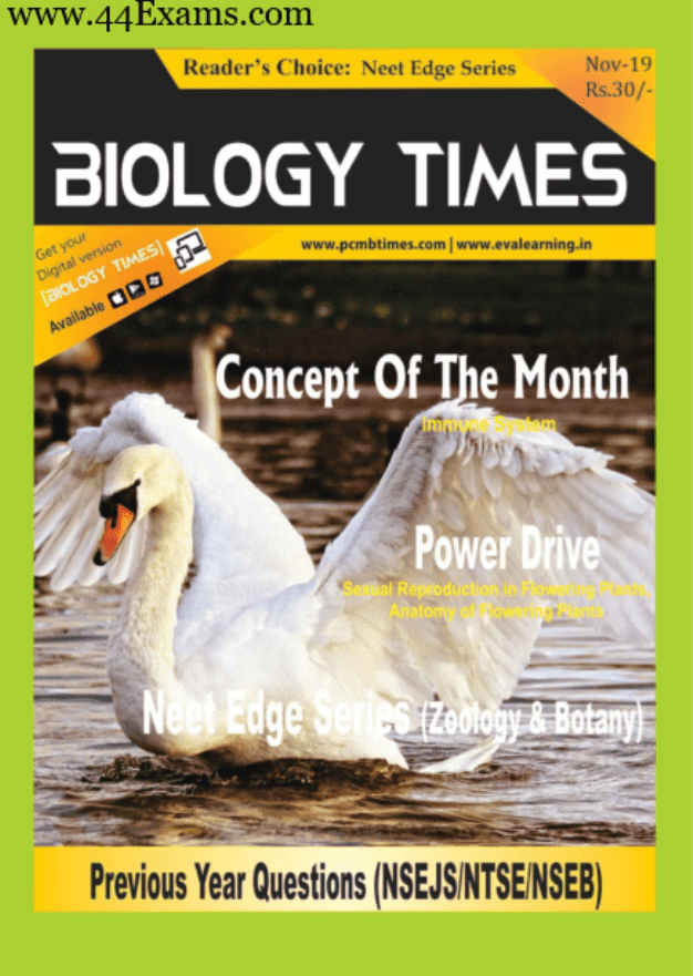 Biology-Times-Magazine-November-2019-For-NEET-Exam-PDF-Book