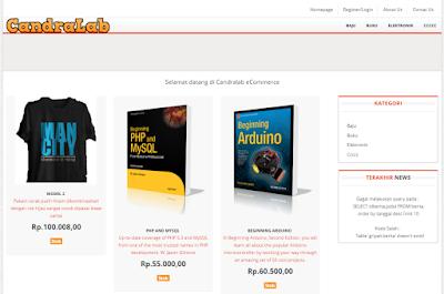 Ebook dan Source Code eCommerce Dengan Twitter Bootstrap