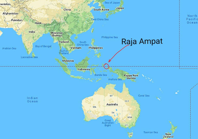 Map location of Raja Ampat