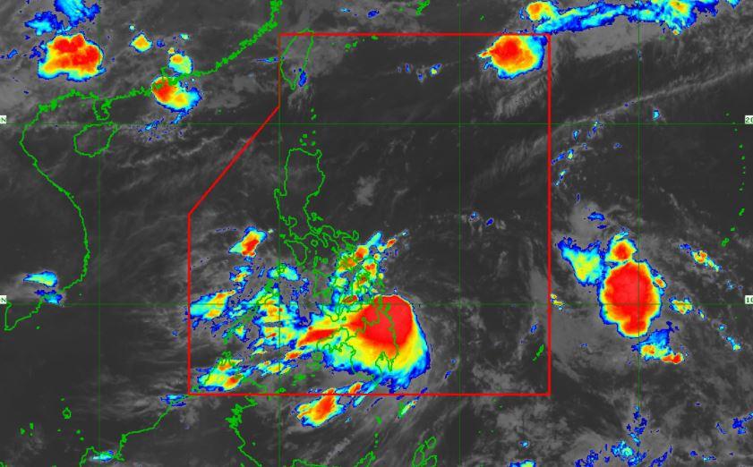 Satellite image of Tropical Storm 'Dante' June 1