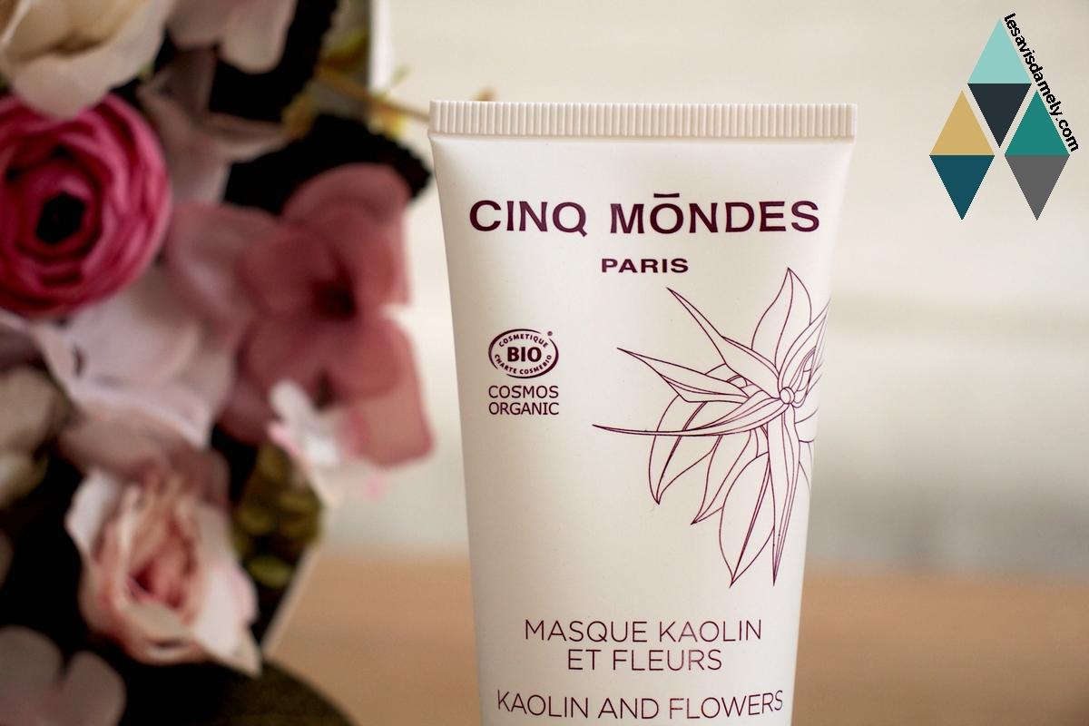 revue beauté masque visage kaolin et fleurs bio cinq mondes