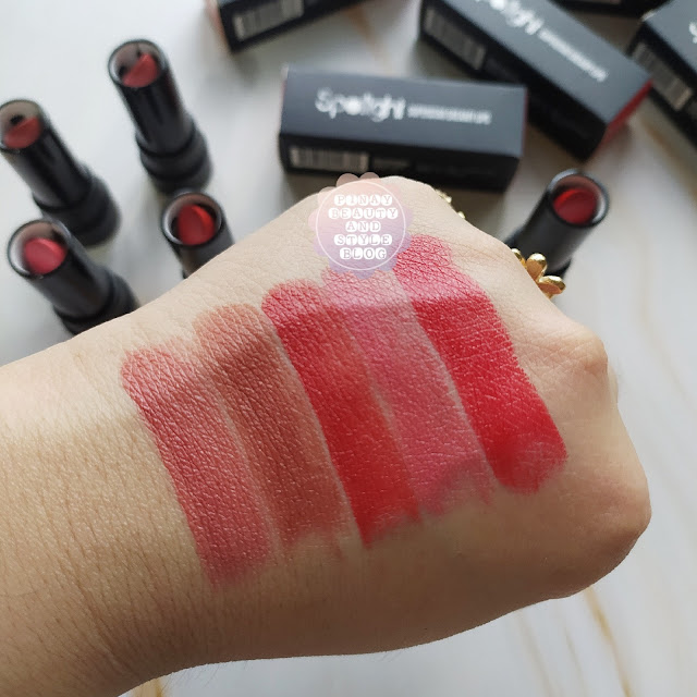 Spotlight Cosmetics SuperStar Creamy Lips swatches review