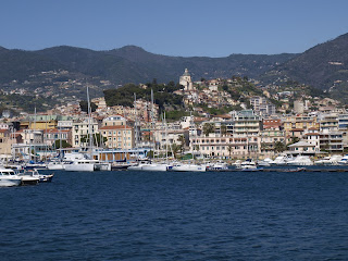 The resort of Sanremo, with the harbour in the foreground