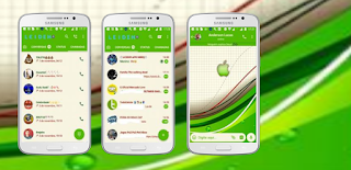 GreenApple iOS Theme For GBWhatsApp Download By Leideh