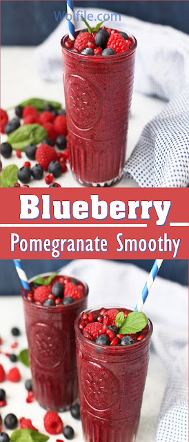Blueberry Pomegranate Smoothie Recipe #smoothie #drink