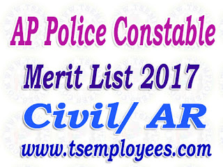 AP Police Constable Merit List 2017 Civil AR apslprb Results @ recruitment.appolice.gov.in