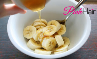 العسل والموز لتنعيم الشعر