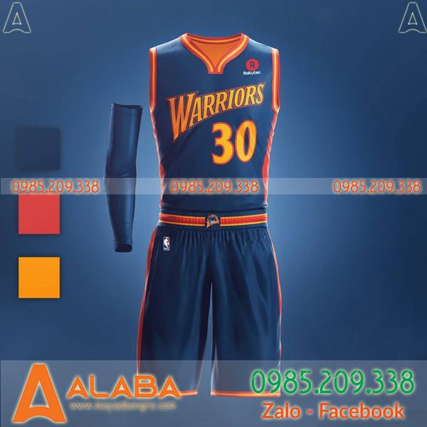 Áo bóng rổ Warriors 2019 cổ tim mới
