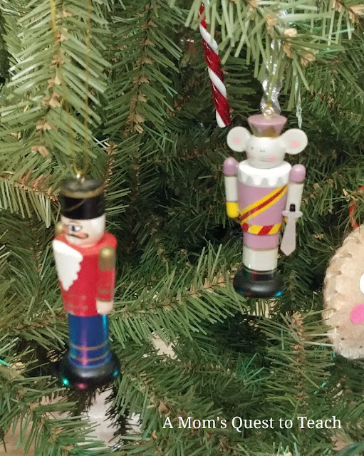 Nutcracker and Mouse Prince wooden ornaments