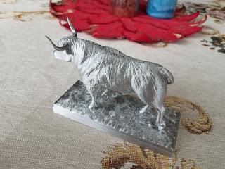 White Metal Bull 2021 — 3D printed figurine