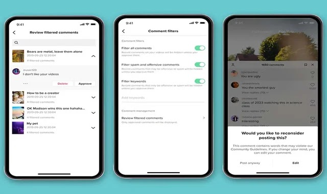 TikTok announces tools for handling inappropriate comments
