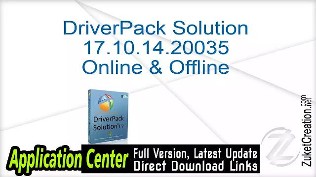 DriverPack Solution 17.10.14.20035 Online & Offline