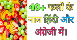 फलों के नाम (fruits name in Hindi and English)